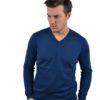 Stile Latino cashmere v neck sweater ocean blue