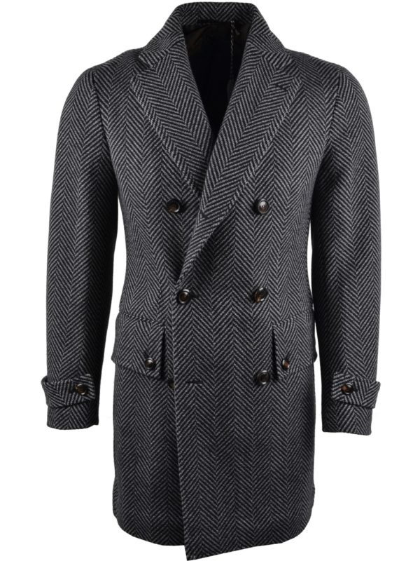 Stile Latino wool herringbone coat