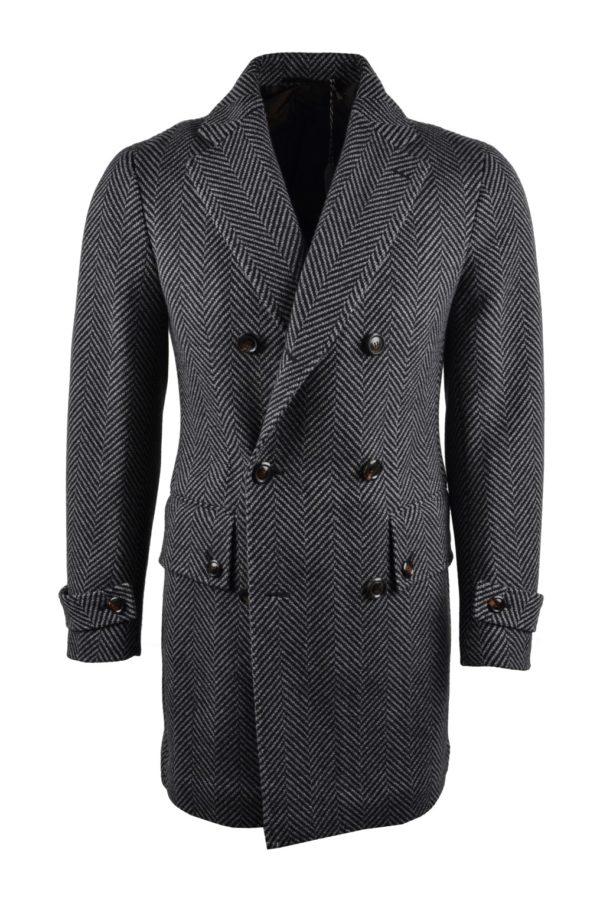 Stile Latino wool herringbone coat