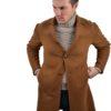 Stile Latino cashmere coat single breasted
