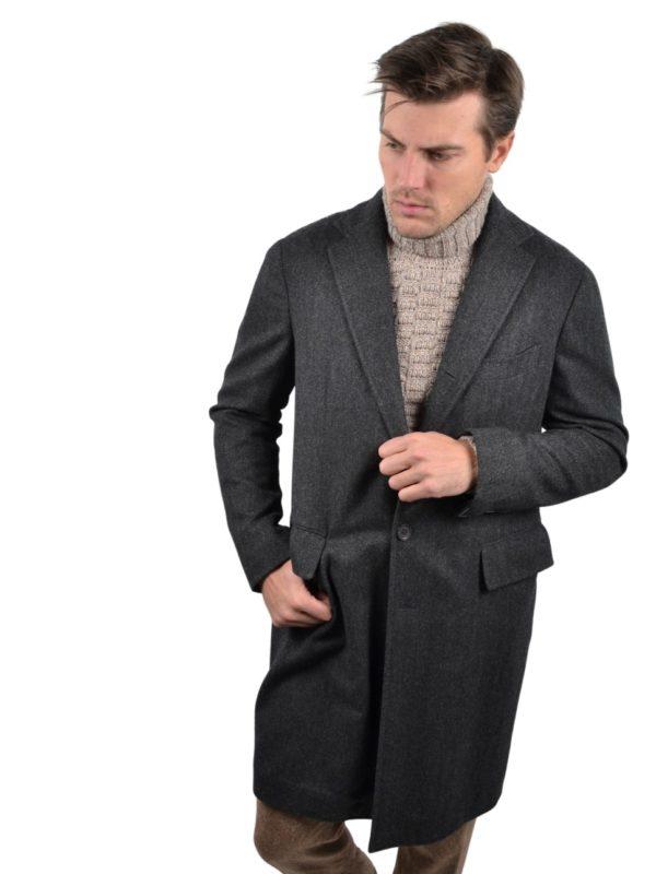 Stile Latino herringbone coat