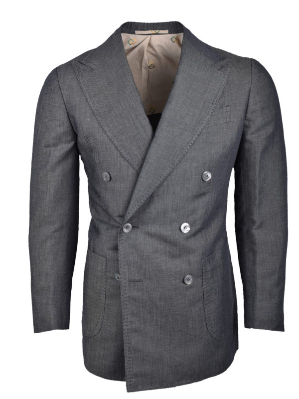 Stile Latino double breasted linen cotton blazer