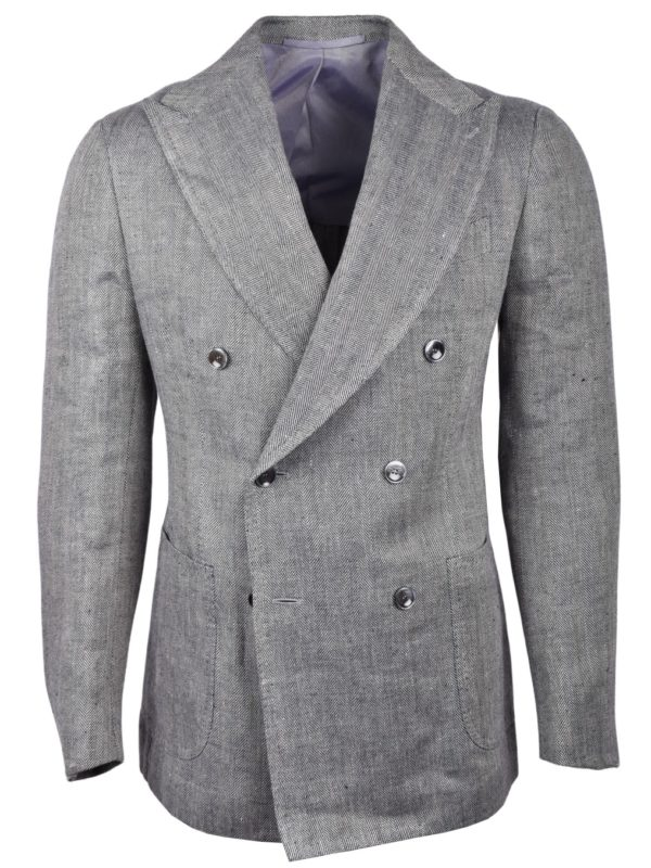 Stile Latino double breasted linen blazer
