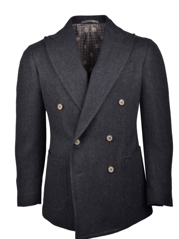 Stile Latino double breasted lambswool blazer