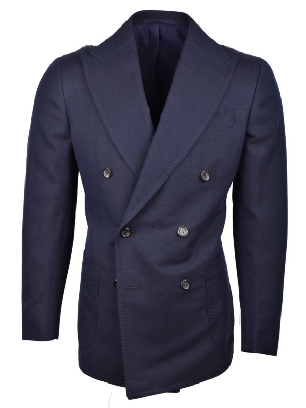 Stile Latino double breasted cotton blazer