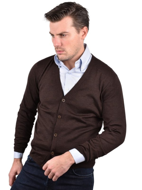 Stile Latino wool cardigan brown