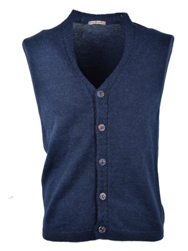 Stile Latino alpaca wool sleeveless cardigan