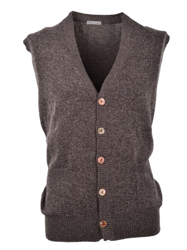 Stile Latino cashmere sleeveless cardigan