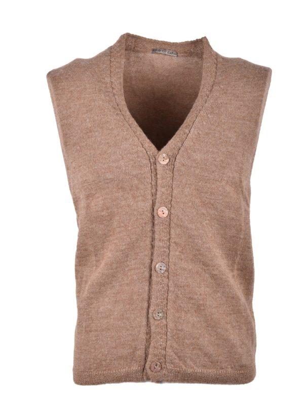 Stile Latino wool sleeveless cardigan