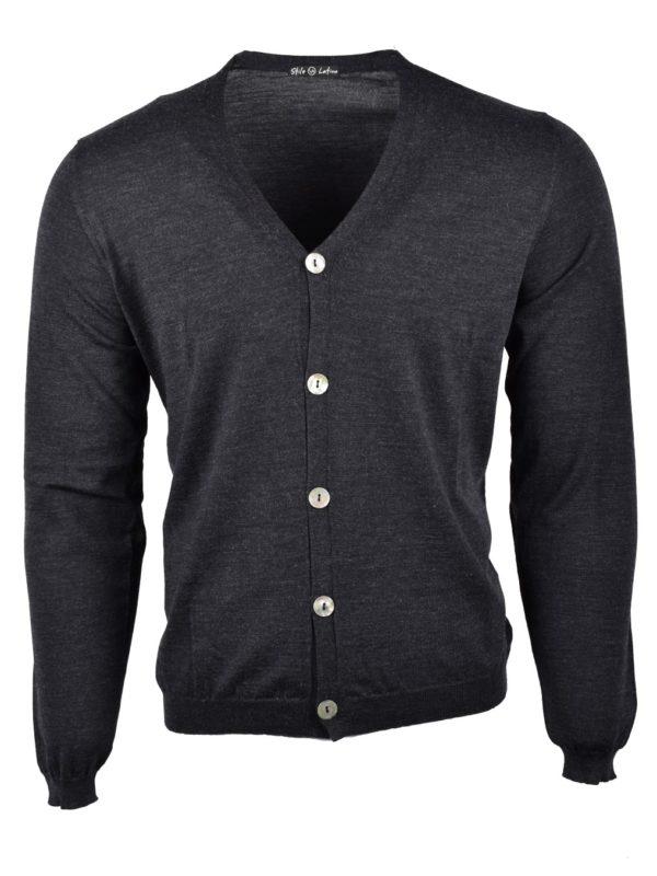 Stile latino wool cardigan gray