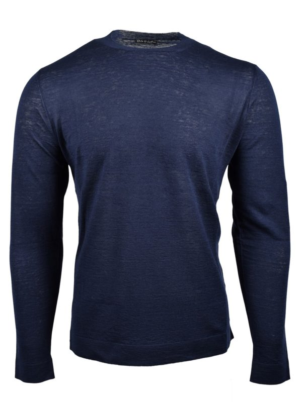 Stile Latino jumper linen cashmere silk navy