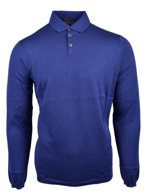 Stile Latino cotton cashmere polo sweater