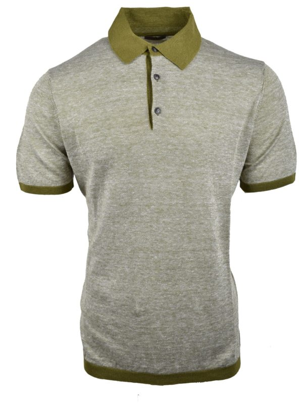 Stile Latino linen cashmere silk polo t-shirt