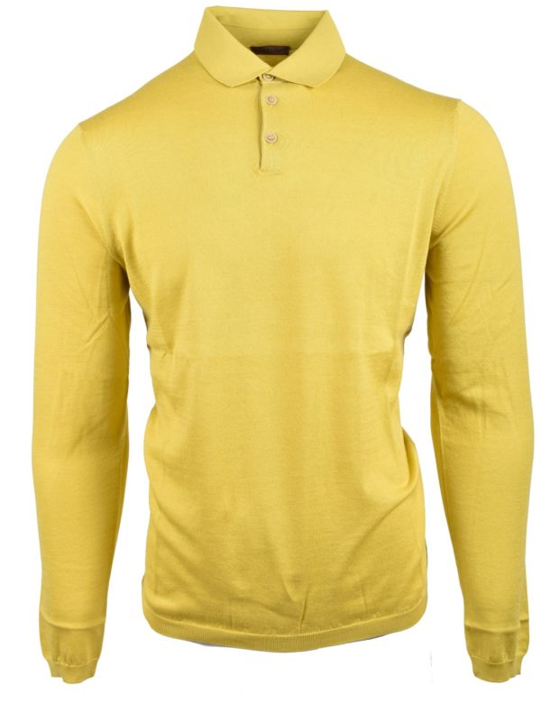 Stile Latino cotton cashmere polo sweater