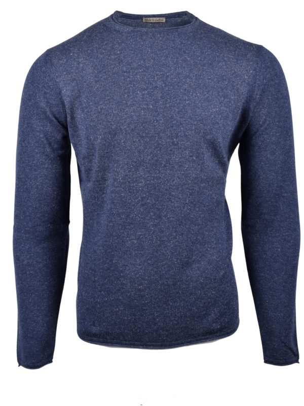 Stile Latino cashmere silk jumper blue
