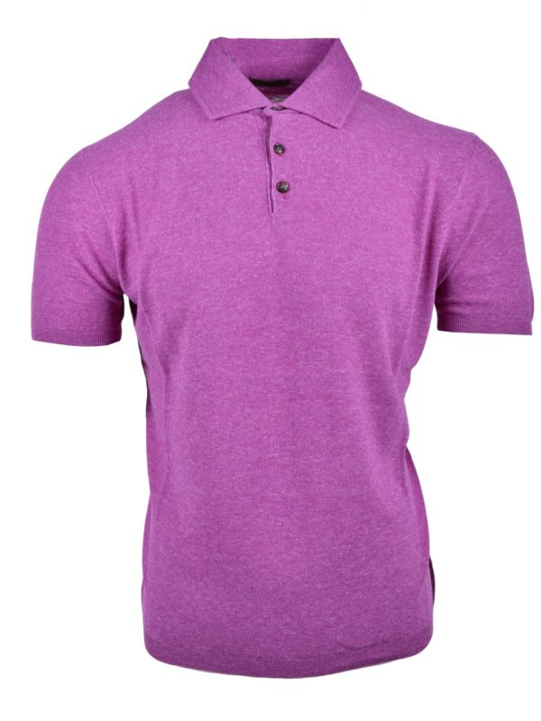 Stile Latino silk linen polo t-shirt