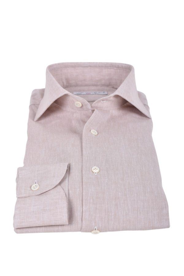 Masaniello Napoli linen cotton shirt beige