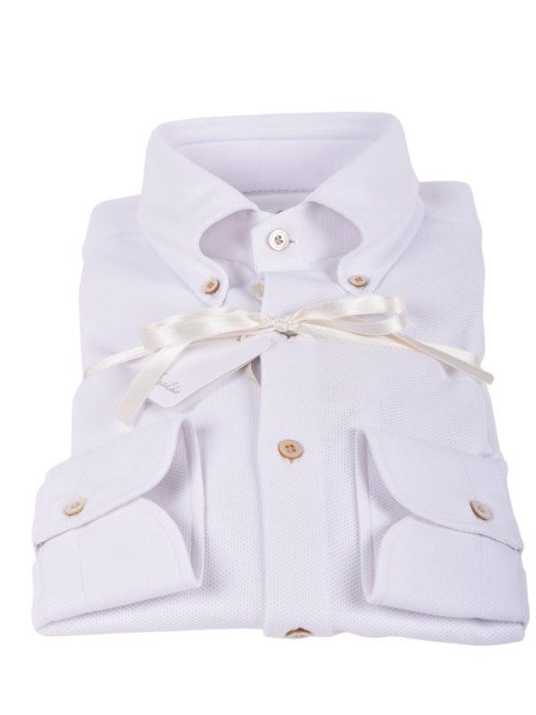 Fralbo Napoli pique shirt white