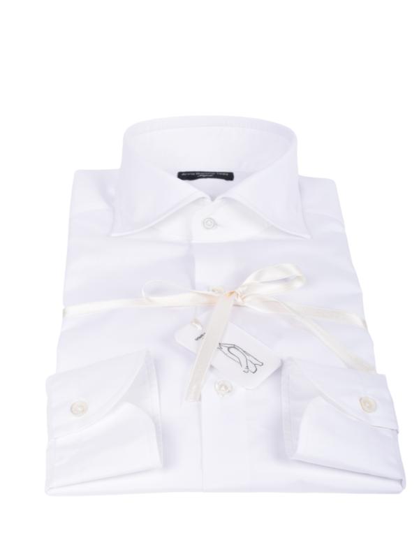 Anna Barone handmade shirt white 200/2 cotton