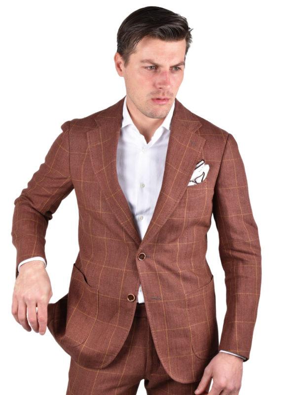 Stile Latino linen suit handmade