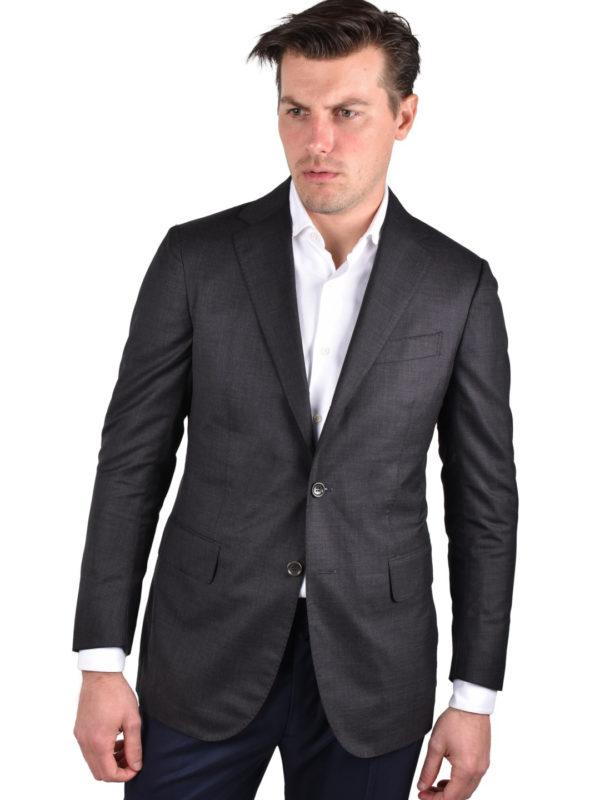 Stile Latino gray s150 wool cashmere blazer