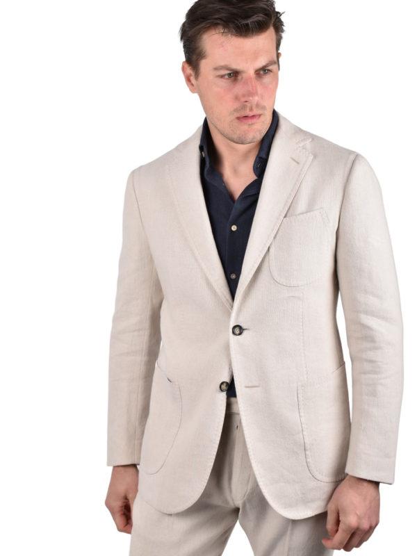 Stile Latino linen cotton suit handmade