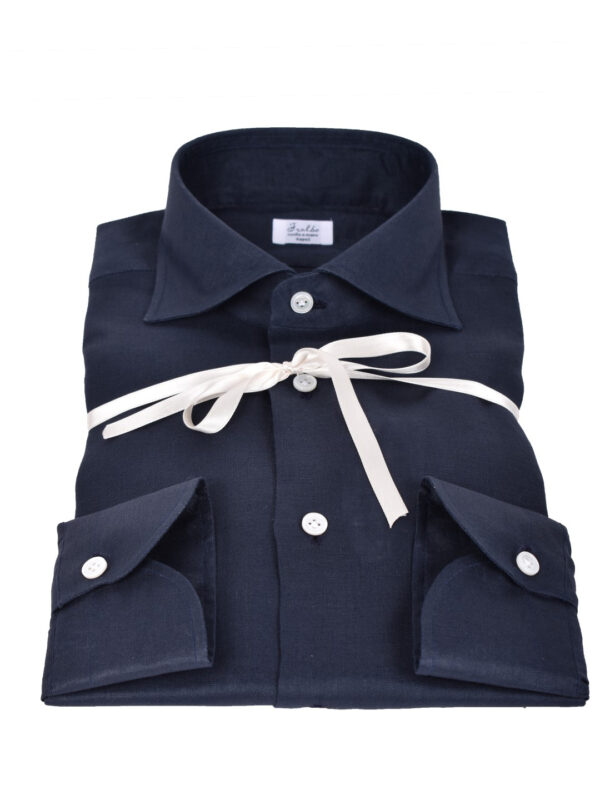 Fralbo Napoli linen shirt navy