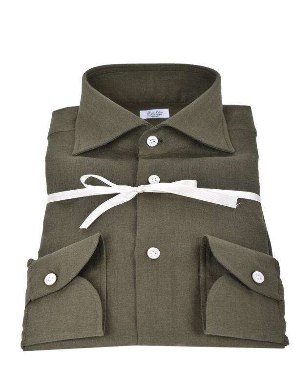 Fralbo Napoli linen shirt green