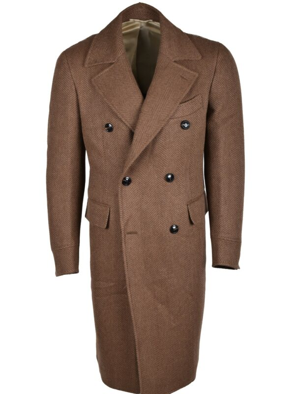 Stile Latino fall winter 2021 2022 coat brown herringbone