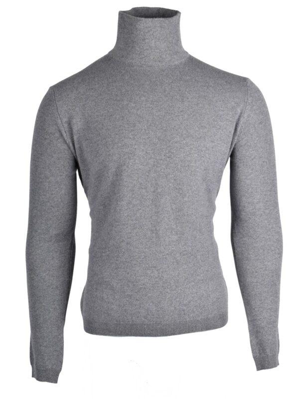 Stile Latino cashmere turtleneck sweater light gray