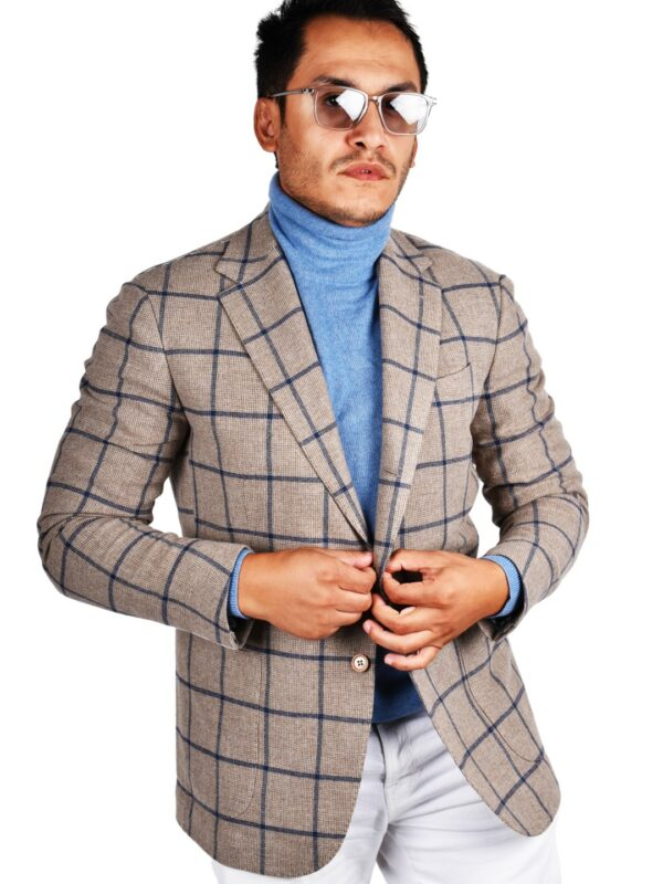 Stile Latino wool cashmere blazer beige