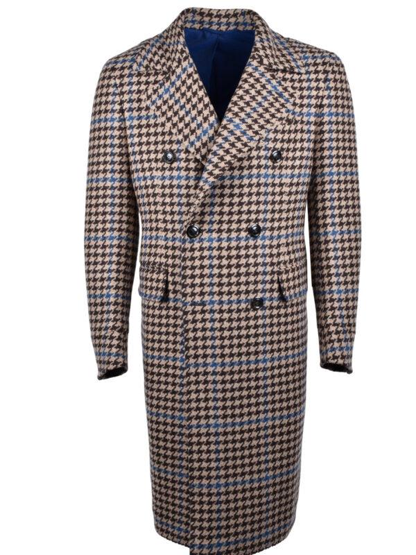 Stile Latino houndstooth coat wool