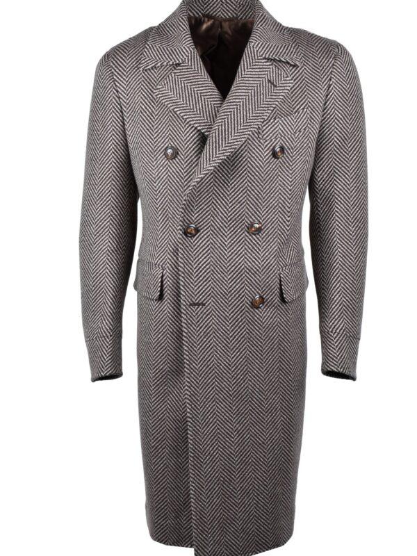Stile Latino double breasted herringbone coat